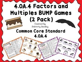 4.OA.4 Factors and Multiples BUMP Games (2 Pack)