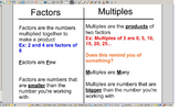 4.OA.4 Factors and Multiples SMART Notebook Lessons