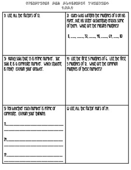 4.OA.4 Homework/Assessment