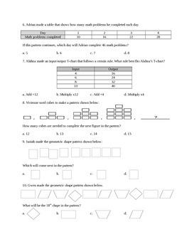 4.OA.5 Assessment