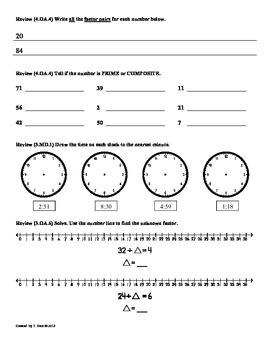 (4.OA.5) Patterns:4th Grade Common Core Math Worksheets