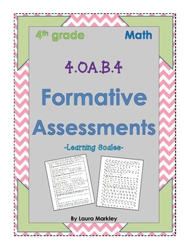 4.OA.B.4 Formative Assessment - prime, composite, factors,
