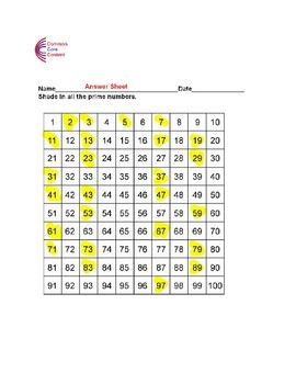4.OA.B.4 Prime and Composite - Fourth Grade Common Core Math Worksheets