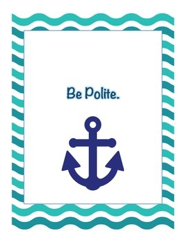 4Ps Rule Posters Nautical