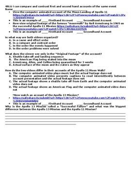 4RI.6 Compare and Contrast Accounts of Apollo Missions