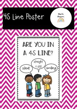 4S Line Poster | Behaviour Management Strategy