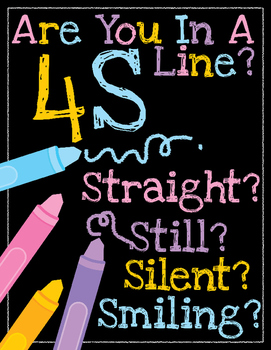4S Line Poster Print: Black and Brights