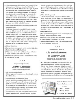 4SL - American Tall Tales - FREE Comprehension Questions and Answers