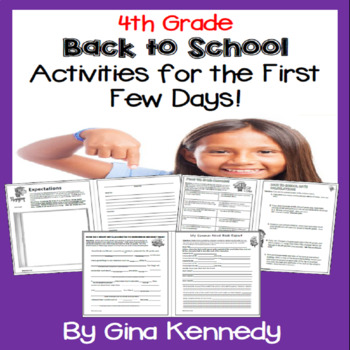"4th Grade ""Back to School"" Unit, Introduction, Procedures, And More"