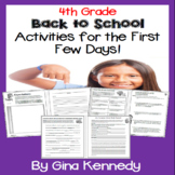 "4th Grade ""Back to School"" Unit, Introduction, Procedures,"