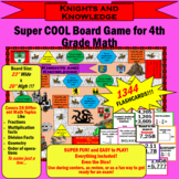 4th Grade Math / Knights and Knowledge Board Game! VIDEO PREVIEW! CCSS & TEKS