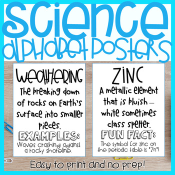 4TH GRADE SCIENCE ALPHABET POSTERS