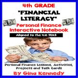 4th Grade Math Personal Finance/ Financial Literacy Interactive Notebook 4.10