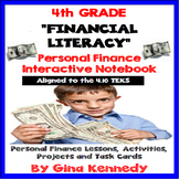 4th Grade Math Personal Finance/ Financial Literacy Interactive Notebook 4.10