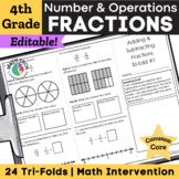 4th Grade Fractions & Decimals - 4.NF.1 - 4.NF.7