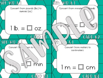 4TH Grade Measurement and Data Task Cards - ALL Standards