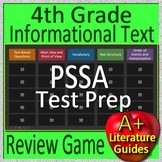 4TH Grade PSSA Test Prep Reading Informational Text and Non-Fiction Review Game