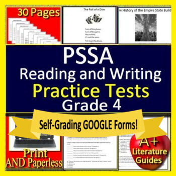 4th Grade Pssa Ela Worksheets Teaching Resources TpT