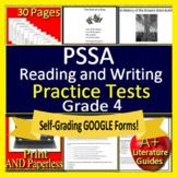 4TH Grade PSSA Test Prep Reading ELA - Printable & SELF-GRADING GOOGLE FORMS!