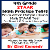 4th Grade STAAR Math Practice Tests, Plus Bonus Financial Literacy Test