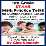 4th Grade STAAR Math Practice Tests, Plus Bonus Financial