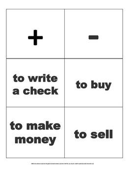 4TH grade math financial literacy vocabulary game