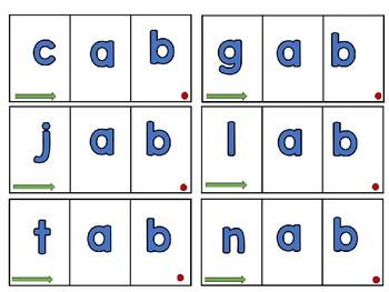 4 Benchmark Sound Spelling CVC Blending cards