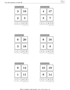 4numbers math game (5)