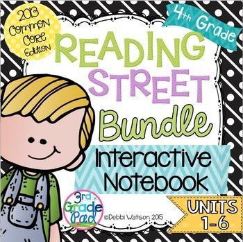 4th Grade Reading Street Interactive Notebook Bundle Unit 1-6