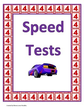 4's and 5's Multiplication Speed Tests