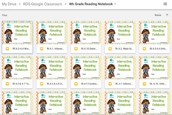 Digital Reading Notebook Google Classroom No Prep