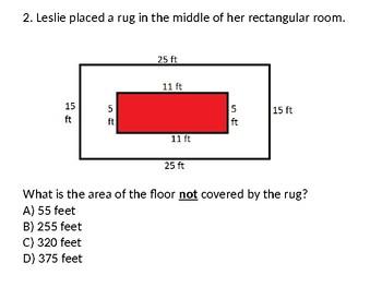 4th,5th,6th Complex Multi-Step Area/Perimeter Word Problems