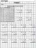 4th, 5th, 6th Grade Grid Paper Multiplication and Division