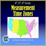 4th 5th 6th Grade Measurement Time Zones Powerpoint Lesson