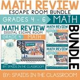 4th, 5th, & 6th Grade Winter Digital Escape Room Math Revi