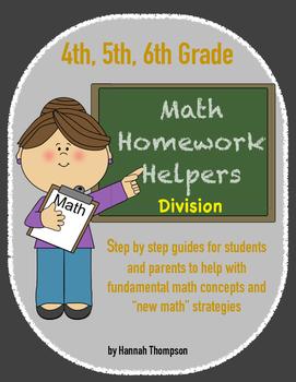 4th, 5th, 6th Math Helpers - Division