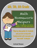 4th, 5th, 6th Math Helpers - Order of Op, Distributive Property, Prime Factors