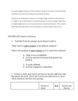 4th/5th Common Core Informational Text 3 Articles Activity and Questions