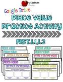 4th/5th Digital Place Value Practice Activity NBT 1.1,1.2-