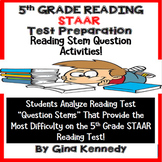 5th Grade STAAR Reading Stems Test-Prep, Review Passages