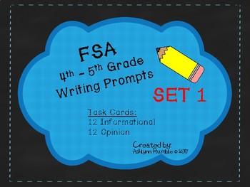 4th/5th Grade FSA Common Core Writing Prompt Cards - Set 1