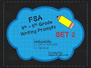 4th/5th Grade FSA Common Core Writing Prompt Cards - Set 2