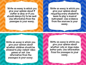 4th/5th Grade FSA Common Core Writing Prompt Cards - Set 3