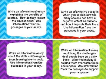 4th/5th Grade FSA Common Core Writing Prompt Cards - Set 4