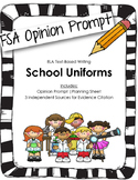 4th/5th Grade FSA Writing Prompt: Mandatory Uniforms? (Opi