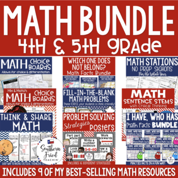 4th & 5th Grade Math Bundle - 7 Top-Selling Math Resources