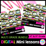 4th & 5th Grade Reading Mini Lessons Bundle - Google & Seesaw Distance Learning