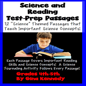 Science Themed Passages Test Prep! Review Science Concepts