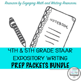 4th & 5th Grade Writer's Academy / STAAR Expository Writing Prep Packets Bundle