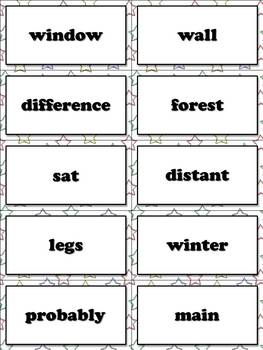 4th - 5th Grade Sight Word List #6 - Sixth 100 High Frequency Words - Word Study